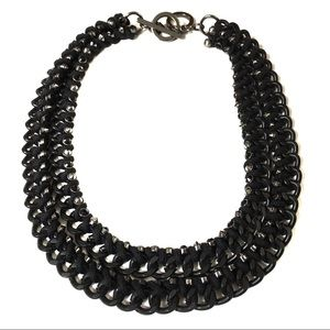 Banana Republic Black Double Chain Necklace